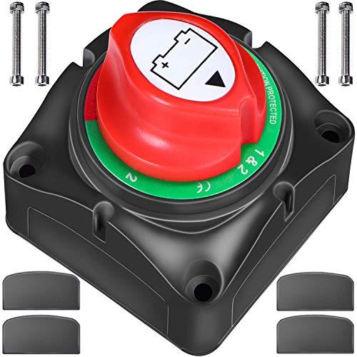 Interruptor de Aislador de Batería ZMYGOLON 1-2-Both-Off Interruptor de Apagado de 12-24V, 200-1000A 4 Posiciones, para Vehículos de RV, Barco, Coche, Camión y Vehículo ATV