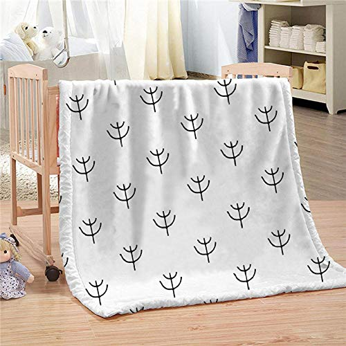 Bbaodan Sherpa Throw Blankets Soft Fluffy Comic Seaweed Blanket Warm Bed Throws Elegant Cozy Blanket For Indoors,Outdoors, Travel And Home, 100% Microfiber 59X78.7 Inch