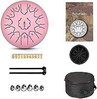 スチール舌ドラム手舌ドラム12インチ13ノート、個人的な瞑想のヨガのためのプレミアムメタルチャクラタンクドラムを持つ鋼鉄パーカッション楽器 (Color : Pink)