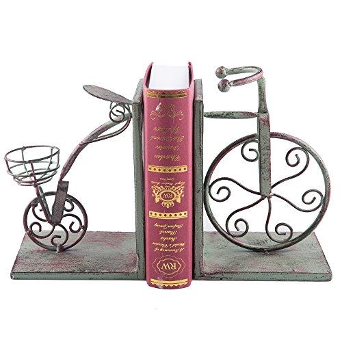 Fasmov Vintage Style Fahrrad Buchstützen Art Buchstütze Grün