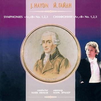 "Йозеф Гайдн: Симфонии ""A"", ""B"", № 1,2,3"