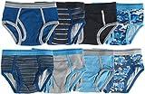 Trimfit Boys Soft 100% Cotton Tagless Briefs (8-Pack) Blue/Grey