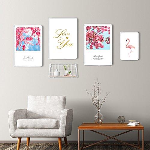 Ensemble de cadre photo, 4 Set Collage de cadres photo, combinaison créative avec cadre de fer (Couleur : D)