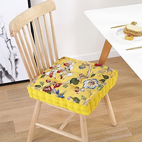 Zhouzhou - Cuscino di ricambio quadrato per sedia da giardino, comodo materasso per interni divano, sedia da pranzo/balcone tatami