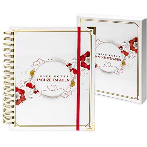 Planner per matrimonio tedesco, il nostro filo rosso – l'organizer perfetto con calendario per matrimoni, budget, liste dei controlli e molto altro ancora.