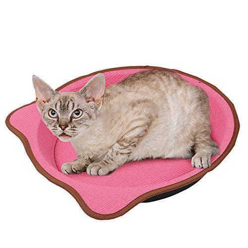 Yzibei interessante Paw Print Vorm Mooie Persoonlijkheid Kat Scratch Board Wapen Met Die Om Scherpen Mijn Klauwen Speelgoed Kat Pan Basin, roze