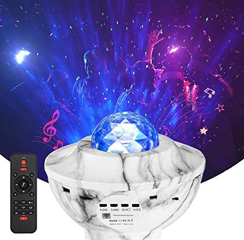 YSD Night Light Star Projector, Sky Star Projector Remote Control Adjustable Light Projector with Bluetooth Speaker Built-in Music Player Best Gift for Kids Party Room Decoration