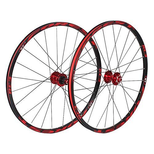 TYXTYX Ejes de liberación rápida Accesorio para Bicicleta Ruedas de Ciclismo de 26', Bicicleta de montaña Rueda de moldeo integrada CNC Freno de llanta de Disco 9/10/11 Velocidad Rodamientos Sella