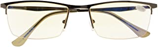 UV Protection,Anti Blue Rays,Reduce Eyestrain,Half-rim Computer Reading Glasses
