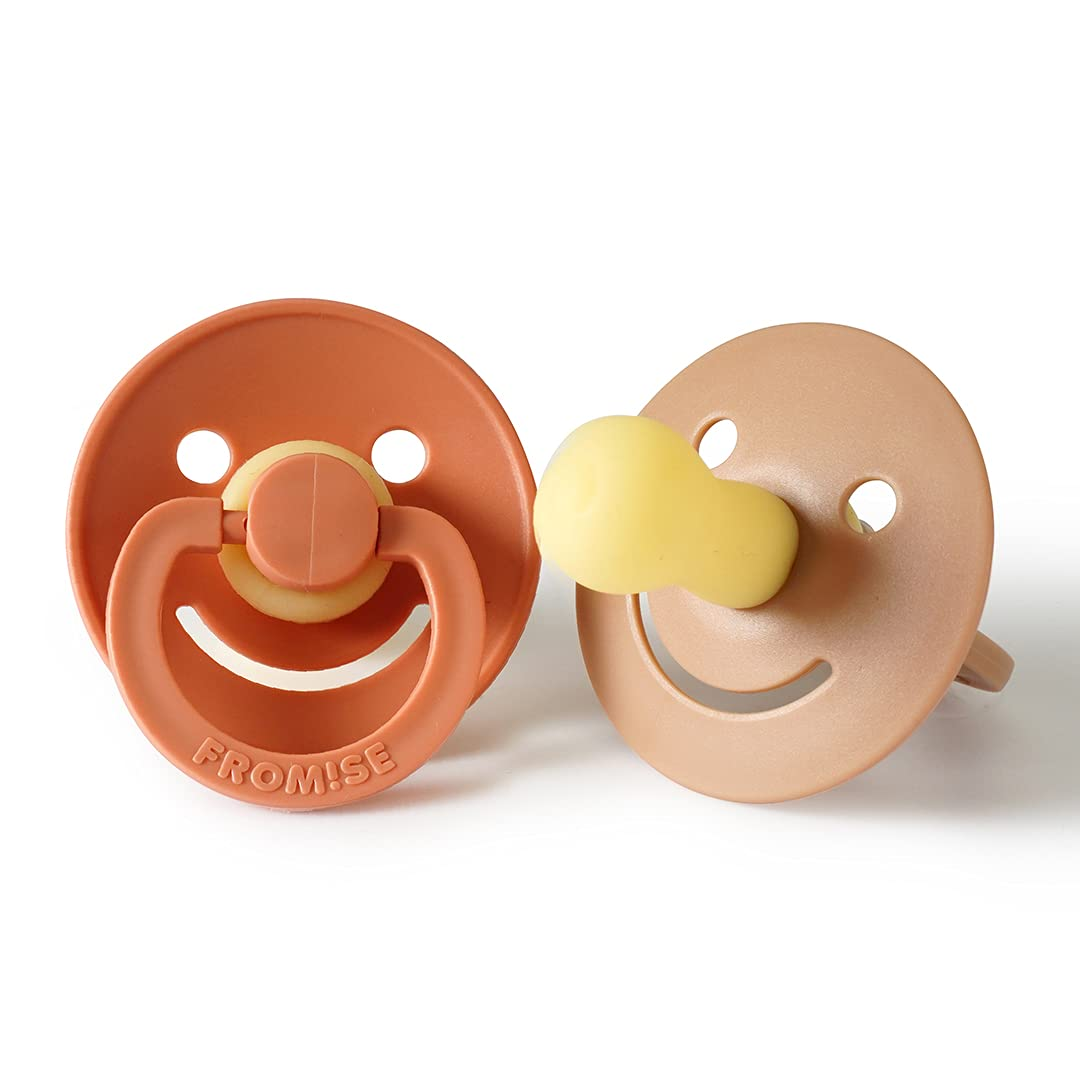 Fromise Silicone online shopping Baby Baltimore Mall Pacifiers Smile Ste of Pack 2