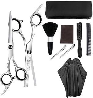 Hair Cutting Scissors Kit 10 PCS Professional Hairdressing Scissors Kit Hair Cutting Scissors Hair Scissors Tail Comb Hair...