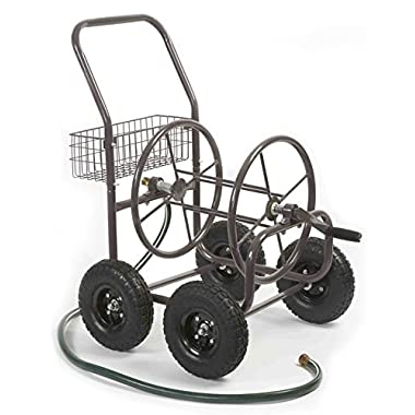 Liberty Garden Products 871-1 Residential Grade 4-Wheel Garden Hose Reel Cart, Holds 250-Feet of 5/8-Inch Hose - Bronze