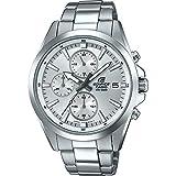 Casio EDIFICE Reloj en caja sólida, 10 BAR, Blanco, para Hombre, con Correa de Acero inoxidable, EFV-560D-7AVUEF