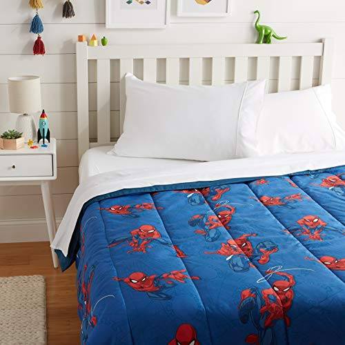 AmazonBasics by Marvel Spiderman Spidey Crawl Comforter, Full
