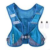 AONIJIE Unisex Running Chaleco de hidratación Ultraligero Mochilas Trail Ideal para Senderismo Maratón Escalada y Ciclismo con 2 pcs Botellas de 250 ml (Azul)