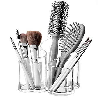 Top Quality Large Wavy Acrylic Makeup Brush and Cosmetic Holder