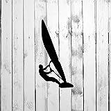 DONL9BAUER Decal, Adesivi per auto in vinile con sagoma di windsurf, per casa, camion, computer portatile, da viaggio, bicchiere per porta, finestra, paraurti