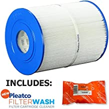 Pleatco Cartridge Filter PWK65 65 sq ft Watkins Hot Spring Spas 31114 w/ 1x Filter Wash