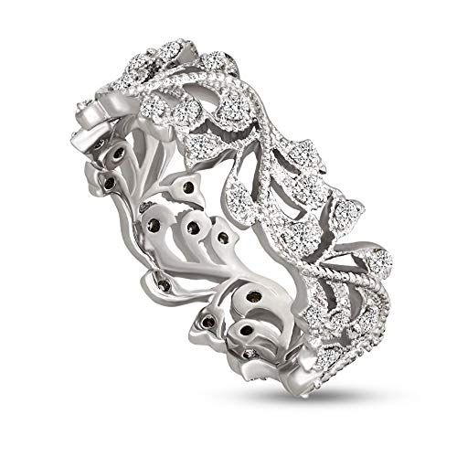 Lab Grown Diamond Ring 10K White Gold & 925 Sterling Silver 3/8 carat Lab Created Diamond Engagement Ring For Women ( 3/8 CTTW, GH - SI1 Quality Jewelry For Women) (white-gold, 7) (0.375 Ct Diamond)