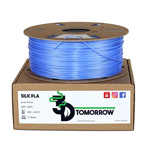 3DTomorrow Silk PLA Filament 1.75mm, Gloss PLA, 100% Recyclable Cardboard Spool Eco Friendly Premium 3D Printer Filament (Antique Bronze)