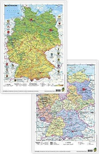 Deutschland physisch/politisch - DUO-Schreibunterlage klein