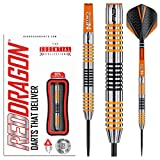 Red Dragon Amberjack 4: 23 gram 90% Tungsten Steel Darts with Flights, Shafts, Wallet & Red Dragon Checkout Card