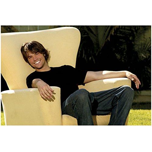 Supernatural Jared Padalecki as Sam Winchester Big Smiles Taking a Break in Chair 8 x 10 Photo
