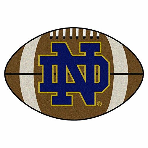 Fanmats Notre Dame Fighting Irish Football-Shaped Mats