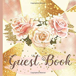 Guest Book: Rose Gold Bridal Shower Guest Book Includes Gift Tracker and Picture Memory Section to Create a Lasting Memory Keepsake (Rose Gold Bridal Shower Guest Books)