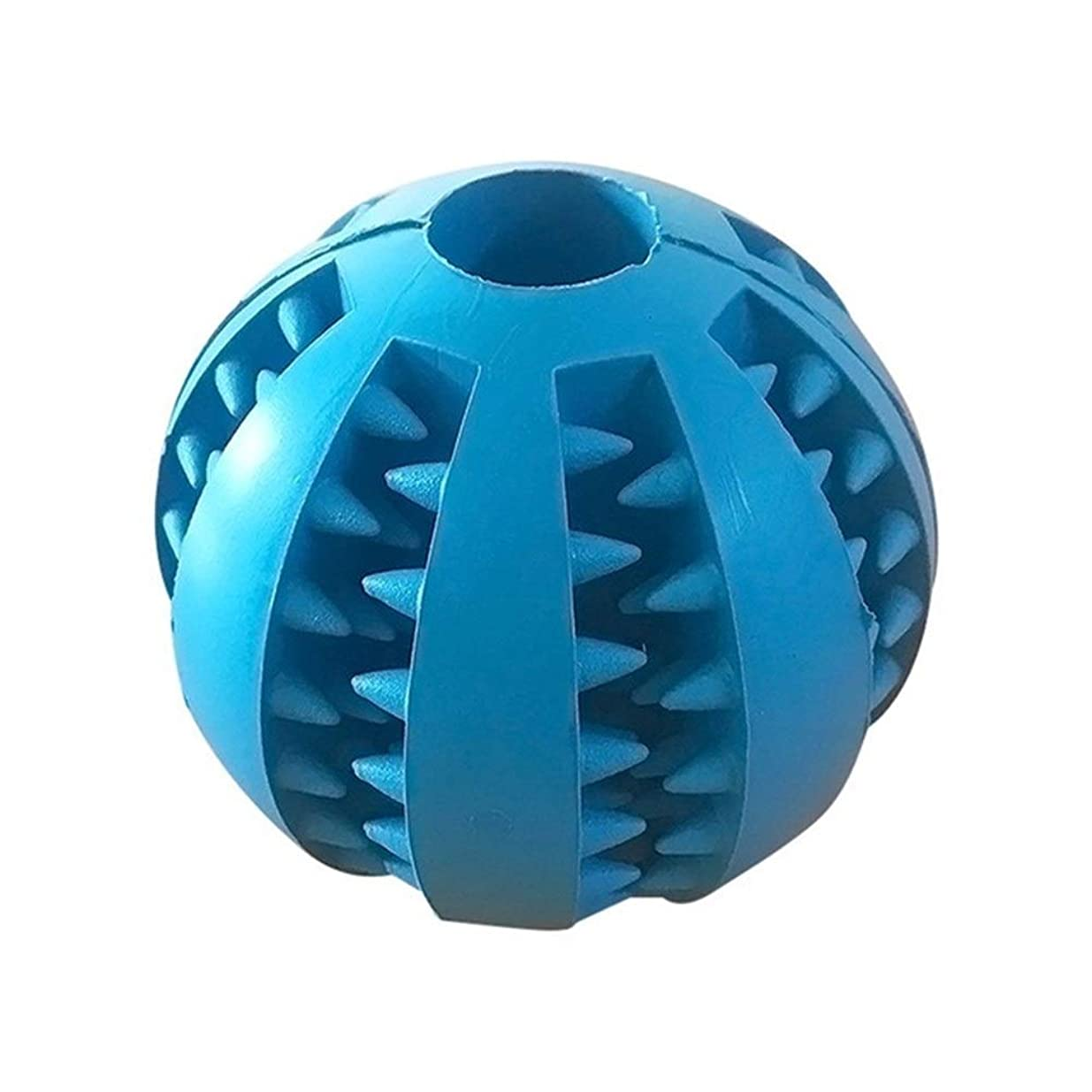 ポゴスティックジャンプ尋ねるしゃがむ犬 おもちゃ おかしいインタラクティブ弾性ボール犬は、食品の玩具ペットの犬のおもちゃエクストラタフなゴムボールのおもちゃのために犬の歯のクリーンボールチュー ペットの圧力を和らげる (色 : Dark blue, Size : 7cm)