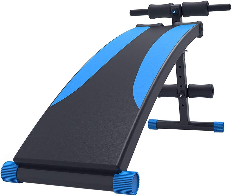MMM@ Multifunktionales Fitness-Board für Rückenlage und Bauchmuskeln Heim-Sit-Up-Fitnessgerte, 7-Fach verstellbar, zusammenklappbare Ablage spart Platz