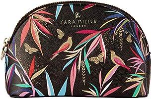 Sara Miller Londyn bambus mała kosmetyczka torebka na kosmetyki (czarna)