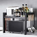 Xuping shop Estantería de Cocina Tipo de Piso, Almacenamiento Individual, Rack de Almacenamiento 57.5 * 42 * 45.3cm Negro