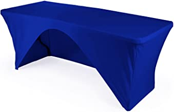 LA Linen Open Back Spandex Tablecloth for a 6-Foot Rectangular Table, 72 by 30 by 30-Inch, Royal Blue