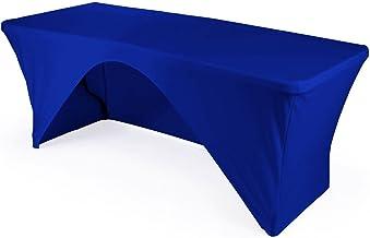 مفرش مائدة LA Linen مصنوع من الألياف اللدنة بجزء خلفي مفتوح من الخلف لطاولة مستطيلة بطول 182.88 سم × 76.2 سم 6-Foot Table ...