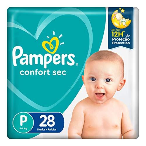 Fralda Infantil Pampers Confort Sec, Com 28 Fraldas Descartáveis, Tamanho P, PAMPERS CONFORT, P