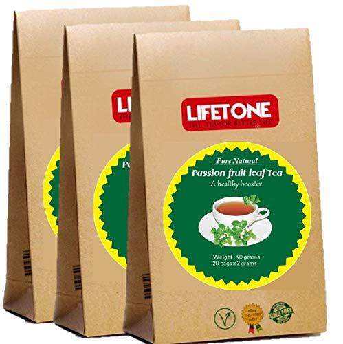 Té de hoja de maracuyá   Té para aliviar el estrés   Deliciosas 60 bolsitas de té envueltas individualmente
