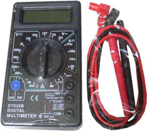 デジタルマルチテスター(電圧計・電流計・抵抗テスター付)[a52]