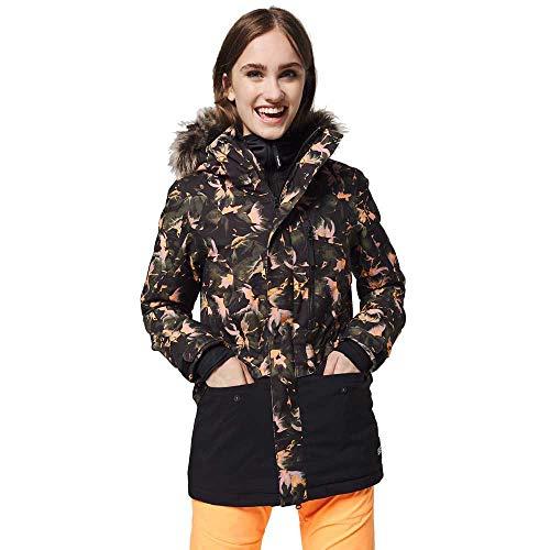 O'Neill Damen PW Zeolite Jackets Snow, Black AOP W/Yellow, S
