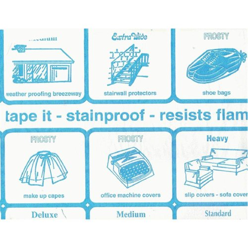 Nordic Shield Clear Vinyl 54-Inch Roll 4-Gauge Blinds, 50-Yard, Blue