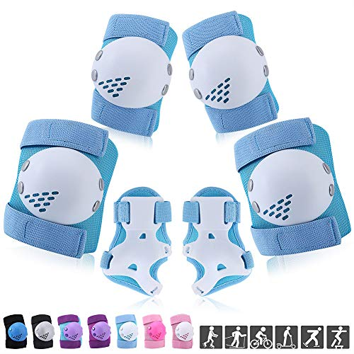 ArgoHome Kids Protective Gear Set, Knee Pads Elbow Pads Wrist Guards for Kids Youth Child 6-14 Years for Roller Skates Cycling BMX Bike Skateboard Inline Skatings Scooter Riding Sports