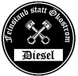 Feinstaub statt Ökostrom Aufkleber Sticker Schwarze Umwelt-Plakette Diesel JDM 2 Stück Fun Lustig Umweltzone Fahrverbot Autoaufkleber LKW