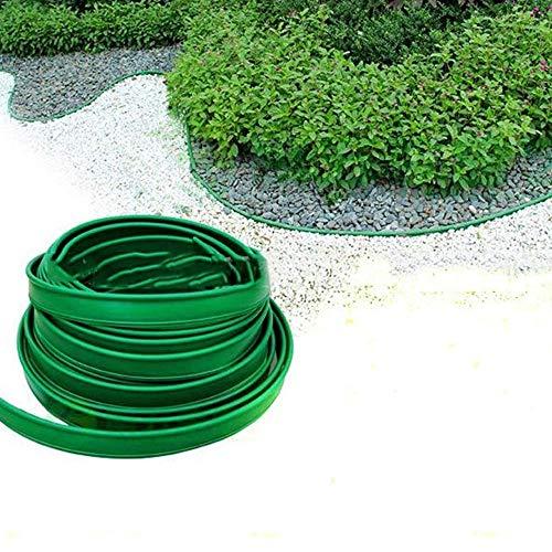 QIANGGAO Kunststoff-Terrassenbrett-Landschaftsrandspule, Garten-Rasenkanten, Flexible Kunststoffblume-Runde Mähkanten für Rasenflächen, Rahmen, Blumenbeete und Steine schützen,10CM*100M