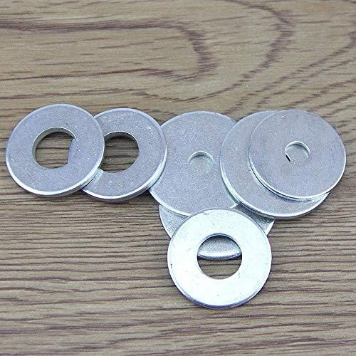 Arandela plana, hierro galvanizado, almohadilla plana meson metal arandela de hierro-Rojo 5 * 25 * 1 (100