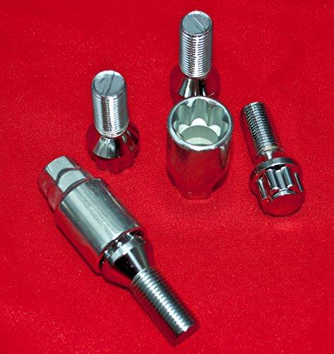 Walthart-1928 GERMANY M12 x 1,5 x 27cm Kegelbund 60° + 2 Adapter 17 und 19 Nuss Universal