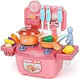 HJX888 Jugar Cocina Juguete, Utensilios Cocina Juguete Pretender,Verduras Mini Accesorios Cocina Juguetes Regalo para Niños 3 Años,Rosado