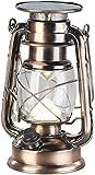 Lunartec Lanterna di uragano: Lampada Tempesta LED Solare Ultra Luminosa, 200 Lm, 3 W, Bianco Caldo, Bronzo (Solare GUIDATO Lampada)