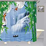 empty Boot Unter Dem Duschvorhang wasserdichte Duschvorhangtrennwand, Feuchtigkeitswiderstandsfähiger Duschvorhang Aus Polyester, Wasserfall 120x180cm