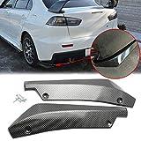 Xotic Tech JDM Carbon Fiber Style Rear Bumper Fin Canard Splitter Diffuser Valence Spoiler Lip