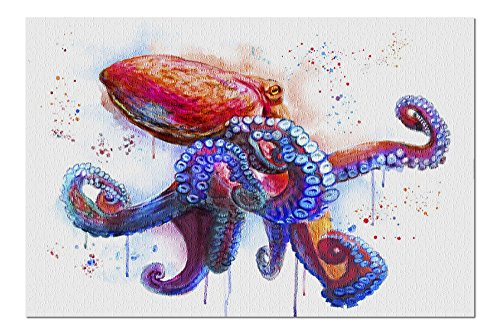 Octopus - Watercolor (Premium 1000 Piece Jigsaw Puzzle for Adults, 20x27, Made in USA!)